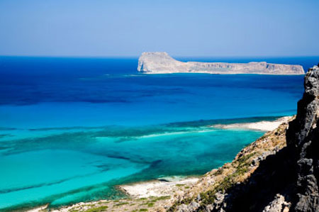 View on blue lagoon balos beach